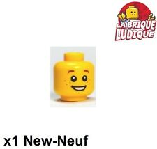 Lego - 1x minifig tête head enfant child smile jaune/yellow 3626bpb0471 NEUF