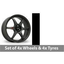 "4 x 15"" Samurai Spec C Gun Metal Alloy Wheel Rims and Tyres -  195/55/15"