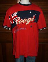 Rare Coogi Australia Embroidered Red T-shirt Sz 2XL Men's