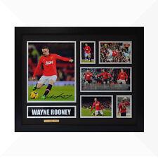 Wayne Rooney Signed & Framed Memorabilia - Black/Silver - Limited Edition