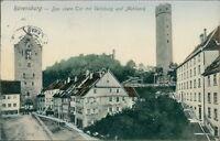 Ansichtskarte Ravensburg obere Tor mit Veitsburg Mehlsack um 1900 (Nr.9335)