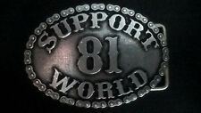 "Hells Angels Support 81 Gürtelschnalle aus Metall ""SUPPORT 81 WORLD"""