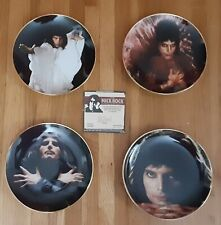 "2006 Set Of 4 Danbury Mint Mick Rock Freddie Mercury 8"" Collector Plates"