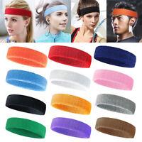 Sports Headbands Athletic Sweat Bands Cotton Sweatband Elastic Hair Bands