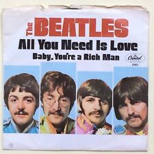BEATLES baby you're a rich man/all you need is love PICTURE COVER Capitol 5964