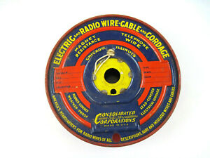 Vintage Unused Consolidated Corporation Electric and Radio Wire and Cordage NOS