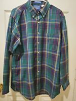 Pendleton Mens Designer Lot of 2 100% Wool Plaid Outdoor Casual Shirts Large j4