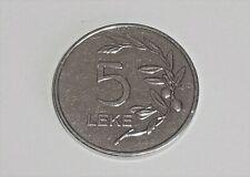 2014 ALBANIAN 5 LEKE COIN - VERY RARE AND COLLECTABLE - GOOD SHINY CONDITION