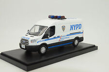 Rare !! Ford Transit NYPD Police Custom Made 1/43