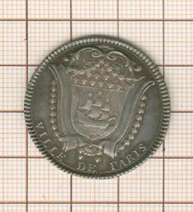 joli  jeton argent prévôt des marchands Lefevre de Caumartin 1780