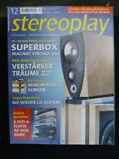 STEREOPLAY 12/01, Revel F, C.S. B, 30, Audionet Map, NAD C 370, Rotel ra 1060, audio