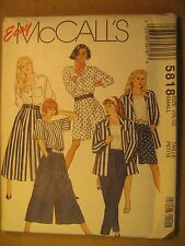 UNCUT Sewing Pattern 1992 McCALL'S 10,12 5818 JACKET Top PANTS Skirt [Z180]