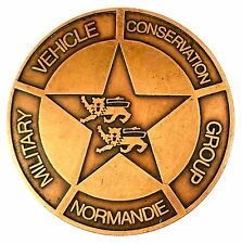 MEDAILLE MILITARIA DU CLUB MVCG NORMANDIE (Military Vehicle Conservation group)