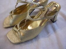 Gold Sandals Size 7.5, Flora Collection