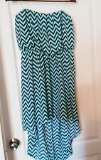 New My Michelle Strapless High-low Blue and Green SunDress Lg