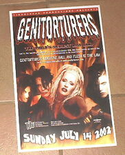 The Genitorturers VERY RARE 2002 COLOR GIG POSTER Tabu, Orlando FL - Gen