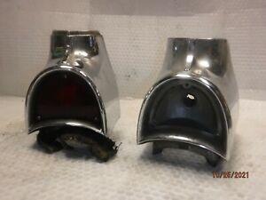 OEM ORIGINAL 1957 CHEVY BELAIR CAR TAIL LIGHT BEZELS BEL AIR CHEVROLET GM 210 57