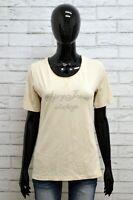 Maglia Donna LIU JO Maglietta Polo Shirt Woman Taglia M Cotone Elastico