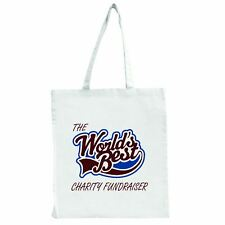 The Worlds Best Charity Fundraiser - Large Tote Shopping Bag