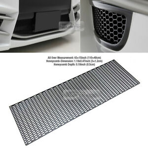 "5_Black Honeycomb Hexagon Mesh ABS Grille Fog Custom DIY 43""x15"" for CHEVROLET"