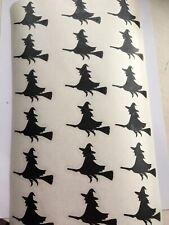 18 Black Witch Vinyl Decal Sticker Halloween Glass Mug Bottle Etc