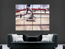 SKATE LONGBOARD STREET SKATEBOARDING   ART WALL LARGE IMAGE GIANT POSTER