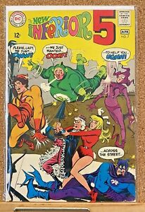 VINTAGE 1968 INFERIOR FIVE #7 DC COMICS SPIDER IRON MAN PARODY 1ST SERIES HIGH!!
