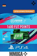 PS4 - FIFA 19 Ultimate Team - 1600 FUT Points Key Playstation 4 Code Nur für DE