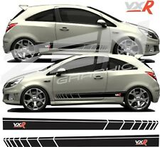 Vauxhall Corsa D VXR Turbo Side Stripes Graphics Decals Stickers 2006 - 20016