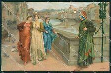 Firenze Città Dante Sborgi cartolina KF2867
