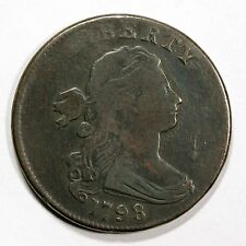 1798 S-177 R-4+ Draped Bust Large Cent Coin 1c