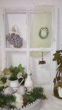 Deko Fenster Fensterrahmen Sprossenfenster Holz Weiß  Shabby Vintage 60cm