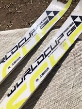 USED FISCHER GS WC RC4 SKIS FISCHER RC4 BINDINGS WAXED TUNED AS IS 186 CM