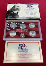 US Mint State Quarters Silver Proof Box Set 2004
