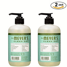 Mrs. Meyer's Clean Day Basil Scent Liquid Hand Soap 12.5oz Fl Oz (2 Pack)