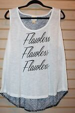 NEW WOMENS PLUS SIZE 3X SHIRT WHITE FLAWLESS RACERBACK SCOOP NECK TANK TOP SHIRT