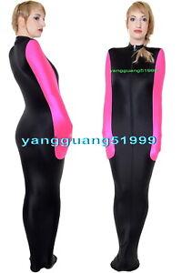 Black/Pink Lycra Mummy Suit Costumes Unisex Sleeping Bag W/ internal Sleeves 055