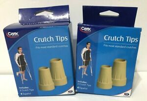 """Carex Crutch Tips X-Large, 2 Set Lot, Pack of 2 (A95200) 7/8""""in"""