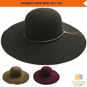 Wide Brim Felt Hat Floppy Vintage Fedora Bowler Cloche Ladies Fashion Cap New