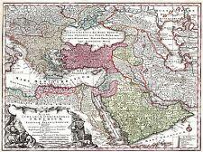 ART PRINT POSTER MAPPA SEUTTER vecchie Turchia IMPERO OTTOMANO PERSIA Arabia nofl0706