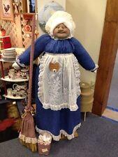 Vacuum Cover Soft Sculpture Grandma -Navy Blue and Cream w/lace apron