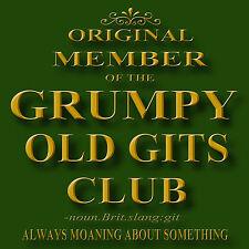 GRUMPY OLD GITS CLUB METAL DRINKS COASTER,ENAMELLED FINISH,