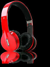 RHYTHMZ PRO HD Red Solo Style Wired On-Ear Headphones ( Open Box Item )