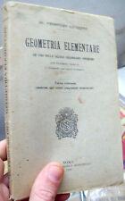 1926 GEOMETRIA ELEMENTARE PER LE SCUOLE SECONDARIE INFERIORI. GIUSEPPE PROSPERO