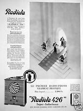 PUBLICITÉ 1932 RADIOLA 426 SUPER-INDUCTANCE TOURNE-DISQUE RADIOPHONO