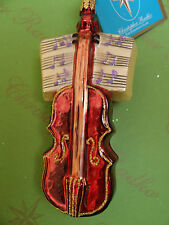 Christopher Radko Sounding Joy Violin Glass Ornament