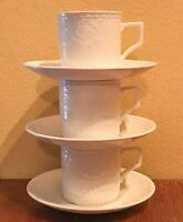 Mikasa Maxima RIVIERA Cups & Saucer Sets (3) White Super Strong Fine China