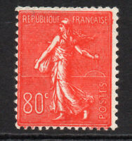 France 80 Cent Stamp c1925-32 Mounted Mint Hinged (3927)