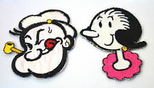OLIVE OYL OIL & POPEYE Embroidered Iron Sew On Cloth Patch Badge  APPLIQUE