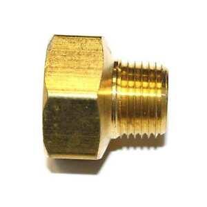 "1/2"" NPT Male x 3/4"" NPT Female Brass Hex Bushing - FB809"